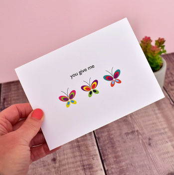 'You Give Me Butterflies' Anniversary Card