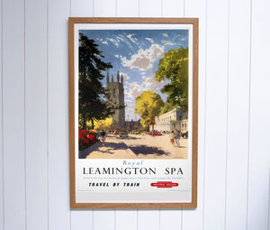 Original Leamington Spa British Railways 1950's Poster