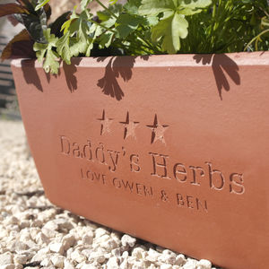 Engraved Message Terracotta Planter - gifts for fathers