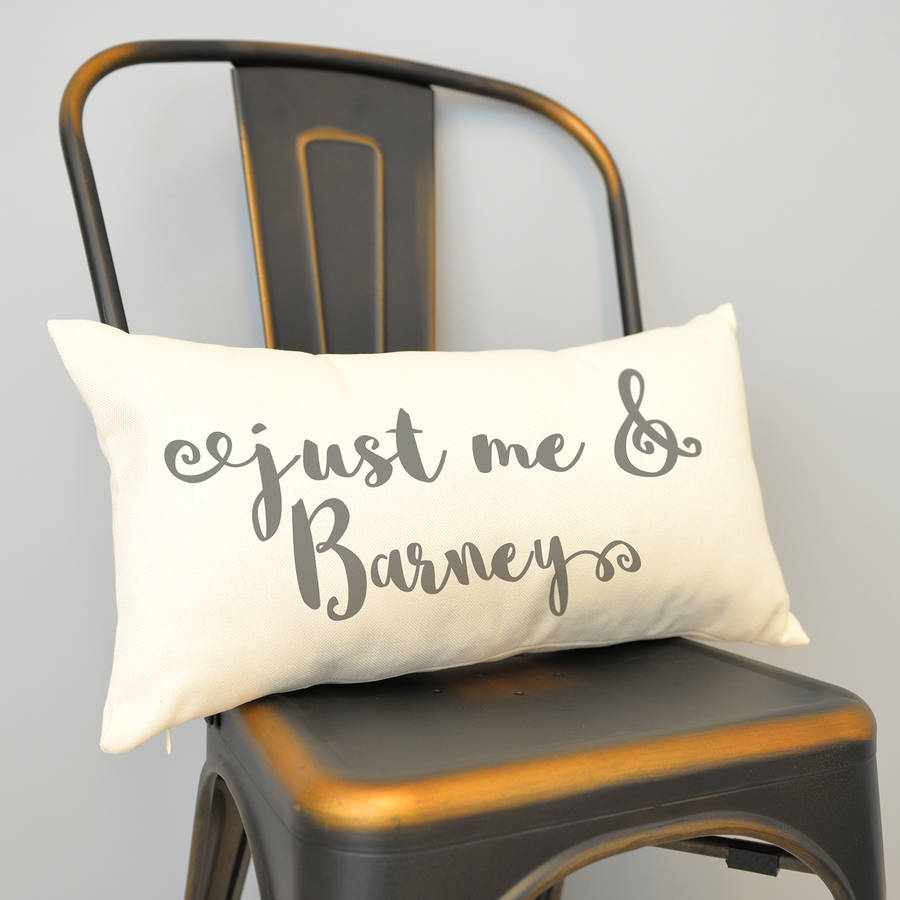 Personalised 'Just Me And My Pet' Rectangular Cushion