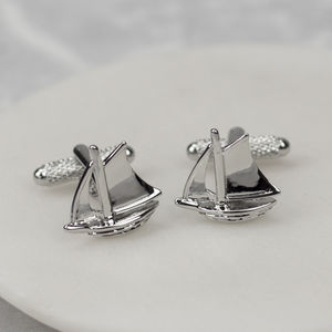 Sailing Boat Cufflinks - jewellery sale