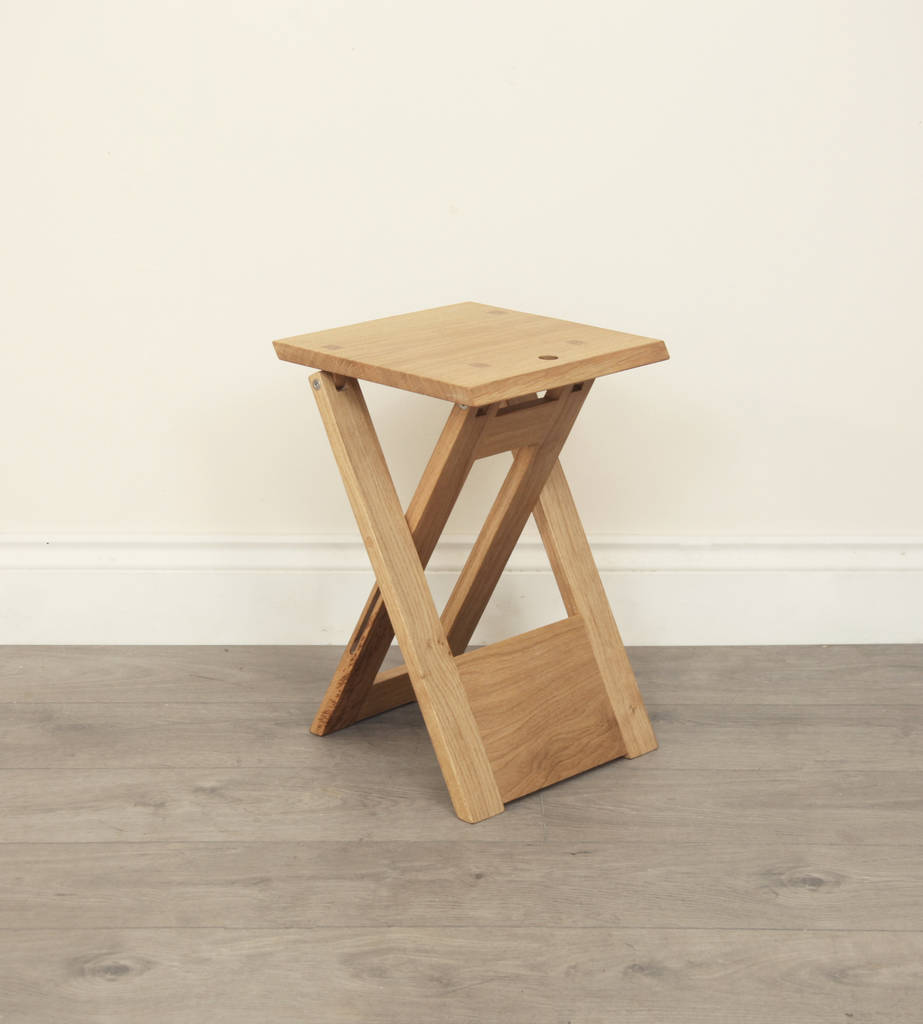 Wooden Folding Stool Or Side Table