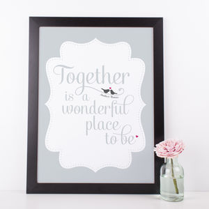 Personalised 'Together' Love Print - posters & prints