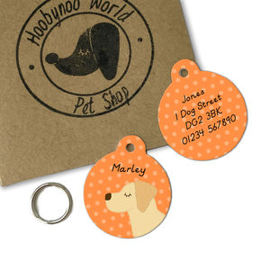 Golden Retriever Personalised Dog ID Tag - dogs