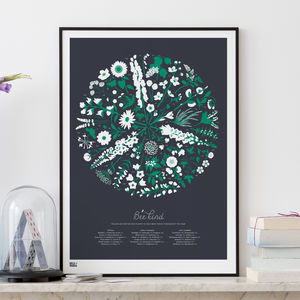 'Bee Kind' Art Screen Print - nature & landscape