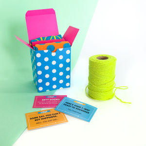 Colourful Patterned Sock Gift Boxes