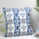 Marisol Feather Cushion, Blue And Orange Design