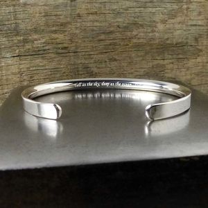 Silver Personalised Men's Bracelet - personalised gifts for dads
