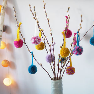 Make Your Own Pompoms Craft Kit - decoration making kits