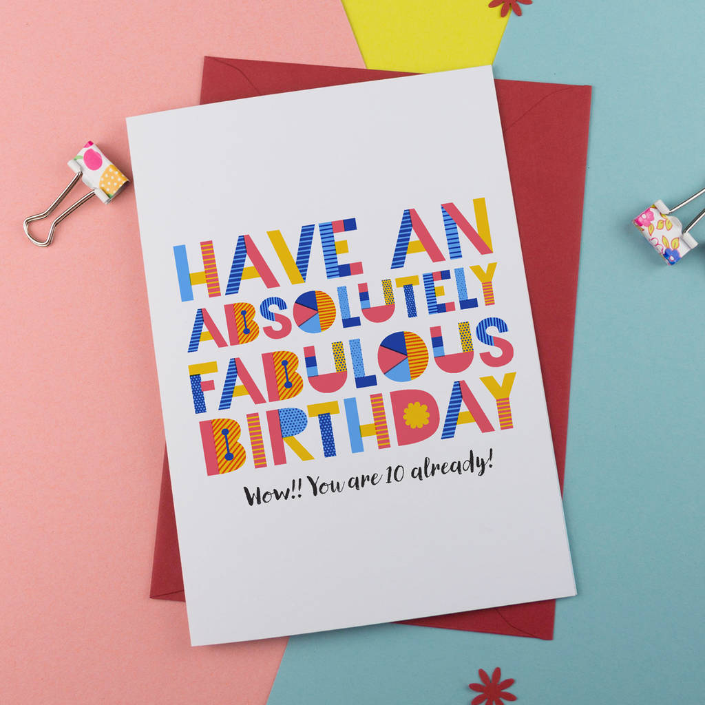 Have A Fabulous Birthday Card Personalised