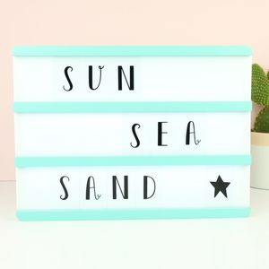 A4 Wooden LED Light Box With Letters - living & decorating