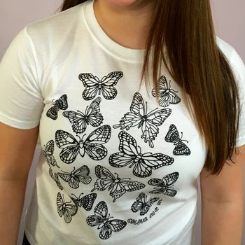 Butterflies Colour In T Shirt