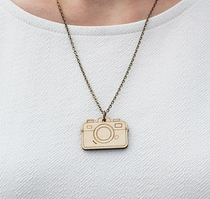 Wooden Camera Necklace - necklaces & pendants