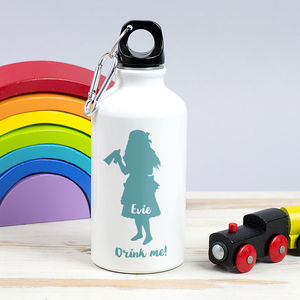 Children's Personalised 'Drink Me' Alice Waterbottle