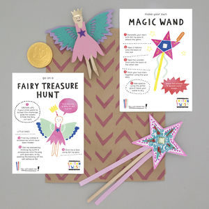 Fairy Party Bag With Wand And Peg Doll Kits - party bags and ideas