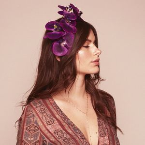 Tula Purple Orchid Floral Headpiece