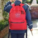 Personalised Recycled Embroidered Backpack