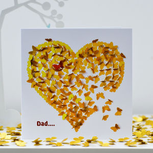 Dad Heart Of Gold Card - sentimental cards