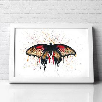 Butterfly Painting Mormon Butterfly Illustration Print