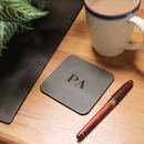 Recycled Vintage Leather Personalised Desk Mat