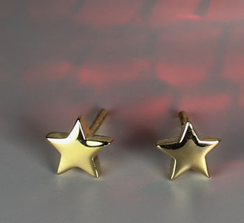 Small Star Stud Earrings In 18ct Gold Vermeil