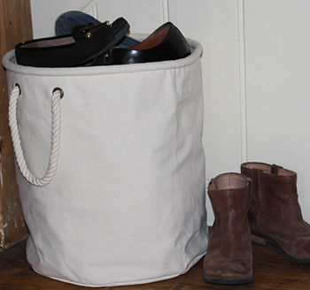 Canvas Shoe Storage Bucket