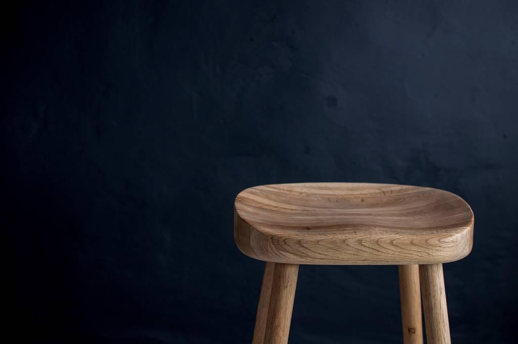 Weathered Oak Bar Stool By Eastburn Country Furniture