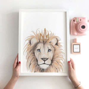 Nursery Decor Lion Animal Print