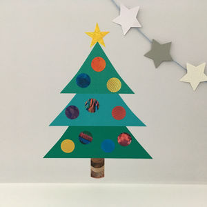 Decorate Your Own Christmas Tree Wall Sticker - living room