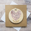 Personalised 'My Favourite Place' Map Keepsake Card