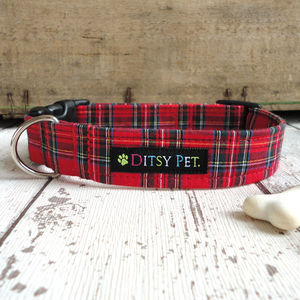 Tartan Dog Collar - more