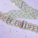 Unicorn And Rose Gold Personalised Hen Party Sash