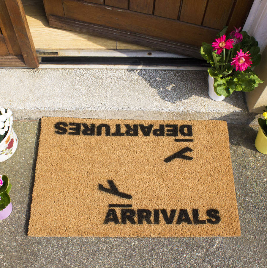 Arrivals And Departures Doormat By Thelittleboysroom