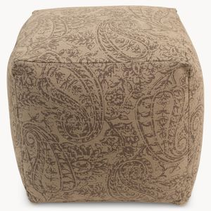 Colston Juvita Square Ottoman In Grey/Blue - footstools & pouffes