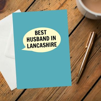 Best Husband In Lancashire Card