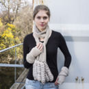 Alpaca Sea Shell Fingerless Mittens