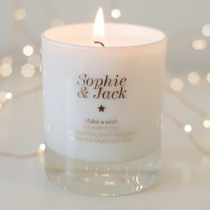 Personalised New Home Candle - new home gifts