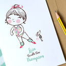 Personalised 'Twinkle Toes' Ballet Card