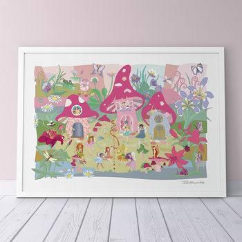 Flower Fairies Print - Pink