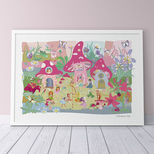 Flower Fairies Fine Art Print - nursery pictures & prints