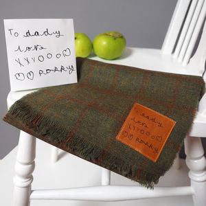 Lambswool Scarf With Handwritten Message - for fathers