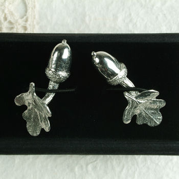 'From Little Acorns' Christening Cufflinks For Boys