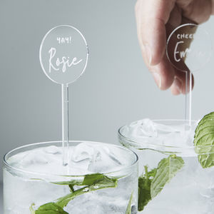 Engraved Personalised Drink Stirrers - occasion