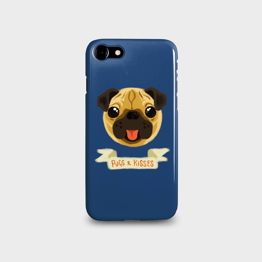 huge discount fc9f0 0bcfe Pugs And Kisses Phone Case