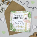 Personalised Flamingo Birthday Card