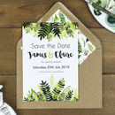 Botanical Leaves Save The Date Card