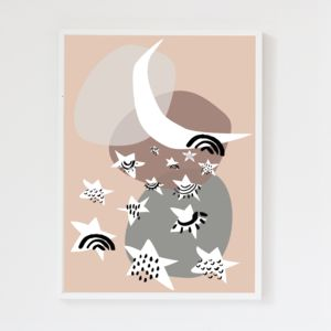 Stars Blush Pink Children's Print - shop by price