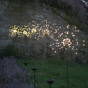Starburst Outdoor Stake Light - outdoor wedding signs