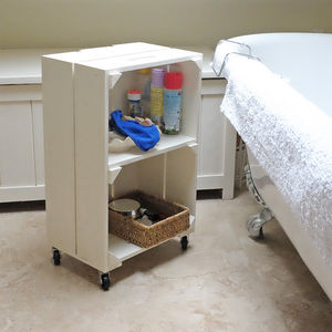 Wooden Crate With Shelves - laundry room