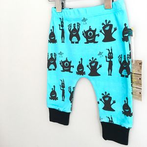 Alien Print Organic Baby Leggings Blue, Was £13.50 - trousers & leggings